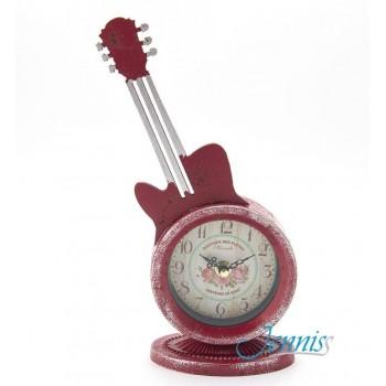 Часы настольные Jenniss Гитара (Красный)