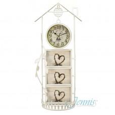 Часы настольные Jenniss Фоторамка Дом (Белый)