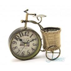 Часы настольные Jenniss Трехколесный велосипед с корзиной